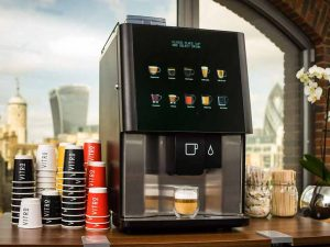 Your favorite coffees are available at vending machines